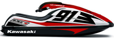 kawasaki jet ski graphics, jet ski decals, pwc graphics